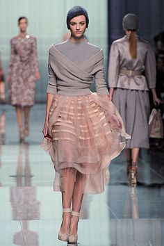 A dance-inspired look from Christian Dior autumn/winter 2012.....new Ballet Beautiful uniform?