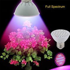 AC85-265V E27 10 W 106 Led Crece La Luz de Espectro Completo de la Planta de Interior Sistema Hidropónico Crece la Lámpara Para Plantas de Vegs/floración Floración
