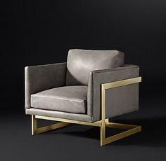 RH Modern// Milo Baughman Model #3426, 1968 Leather Chair
