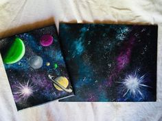 Galaxy Painting - Step By Step Acrylic Painting Tutorial - Tina Johnson - Galaxy Painting - Step By Step Acrylic Painting Tutorial How To Paint A Galaxy - Step By Step Painting For Beginners - Small Canvas Paintings, Simple Acrylic Paintings, Large Canvas Art, Diy Canvas Art, Easy Paintings, Acrylic Artwork, Canvas Ideas, Painting Canvas, Canvas Canvas