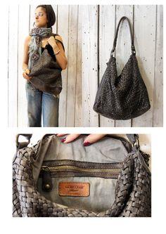 """Handmade woven leather bag """"INTRECCIATO 85"""" di LaSellerieLimited su Etsy"""