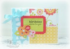 Birthday card by Charmaine Ikach using Verve Stamps.