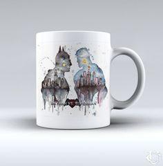 Batman vs Superman design art White Mug