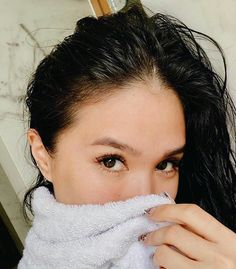 """Isn't it great to come right out of the shower and still look dolled up? It's seriously magical! Heart Evangelista, Pearl Earrings, Hoop Earrings, Asian Babies, Role Models, Thankful, Dolls, Amazing, Makeup"