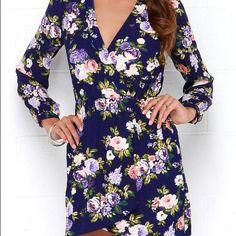 Lulus Thats A Wrap Floral Print Dress