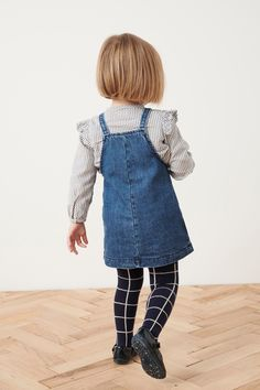 Kaufen Sie Denim Pini With Grid Blouse And Tights Set (3 Monate bis 6 Jahre) from Next Germany