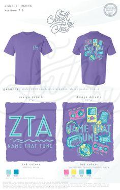 Zeta Tau Alpha | ZTA | Name That Tune Mixer | Mixer T-Shirt Ideas | 80s Theme Date Dash | Neon Social | South by Sea | Greek Tee Shirts | Greek Tank Tops | Custom Apparel Design | Custom Greek Apparel | Sorority Tee Shirts | Sorority Tanks | Sorority Shirt Designs