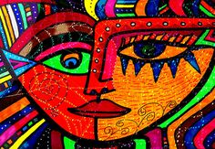 """""""Facing What Comes - Abstract Face"""" artwork by Marie Jamieson at FAA."""