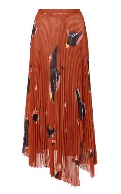 buy popular aaee9 16f00 Arched Asymmetric Chiffon Skirt