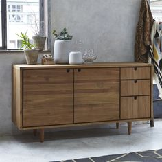 Buffet in Teak 145 Jonàk - Prezzo - Tikamoon Furniture Fix, Wardrobe Furniture, Furniture Catalog, Dining Furniture, Furniture Plans, Furniture Design, Teak Sideboard, Modern Sideboard, Side Board