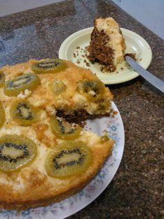 Receitinhas & Afins: bolo bicolor de kiwi
