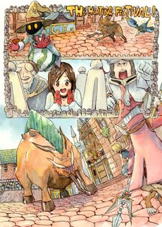 Vivi & Garnet & Steiner & Freiya | Final Fantasy IX [Festival of the Hunt] #game #illustration