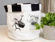 Recycled fabric basket - Ihan Kaikki Kotona