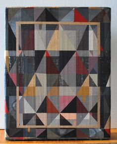 """hyperallergic:  Allison Reimus, Not Yet Titled (2013), 8"""" x 10"""", acrylic and gold leaf on linen"""