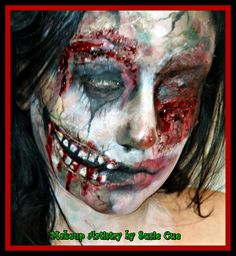 zombie makeup, Face paint, Halloween makeup