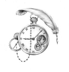 Clocks and feather fountain pens, both things I have a fondness for. Somehow it…