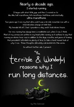 The terrible and wonderful reasons why I run long distances | The Oatmeal