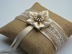 Wedding ring bearer pillow bridal ring pillow by OvationsInStyle