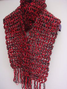 Extra Long and Wide Chunky Crochet Scarf. by HandKnittedByLaura, £20.00