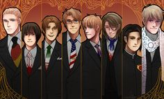 Suits by Owyn - Hetalia - Germany / Japan / Italy / America / England / France / China / Russia