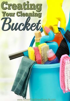 What's so important about your cleaning bucket? Everything! Your bathroom and kitchen will thank you for being so organized.