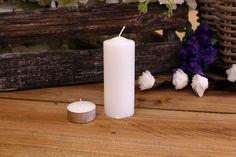 Κεριά Κυλινδρικά Λευκά Φ4x10εκ Pillar Candles, Taper Candles