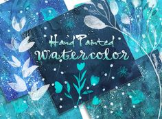 blue marine watercolor paper background