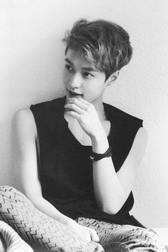 EXO Lay looking so fucking adorable in DIE JUNGS photobook #bw #yixing