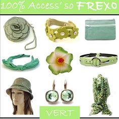 En ce mardi, Frexo se met au #Vert !!! Êtes-vous plutôt #Opaline, Vert #Tilleul ou #Mentheàl'eau ? Craquerez-vous sur le Vert Pastel, le Vert #Anis ou le #Vertd'Eau ? http://www.frexo.fr/Accessoires-Vert.htm  #Pochette, #Chapeau été, #Paréo, #Ceinture, #Pince, #Serretête, #Portemonaie...