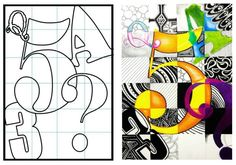 Charles Demuth Inspired Typography, Font Styles & Lettering Design Lesson (Lesson 5 Typography Lettering Styles The Effective Pictures We Offer You About Art Education portfolio A quality Zentangle, Middle School Art Projects, Art School, Secondary School Art, Schrift Design, 7th Grade Art, Lettering Design, Lettering Styles, Font Styles