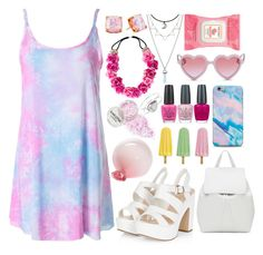 """""""Pastel Princess"""" by kylen91 ❤ liked on Polyvore featuring Sons + Daughters, Esque Studio, Mansur Gavriel, OPI, Kate Spade, Miss Selfridge and Burt's Bees"""