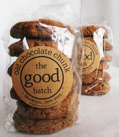 The Good Batch, oat chocolate chunk cookie