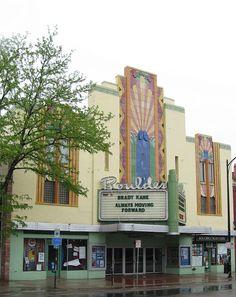 Boulder Theatre in Art Deco style, Boulder, Colorado