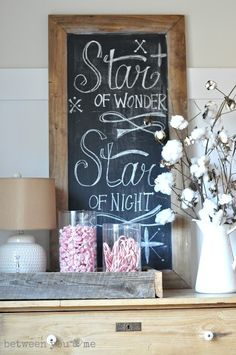 White Christmas Decorations Ideas | candy in clear jars | vignettes