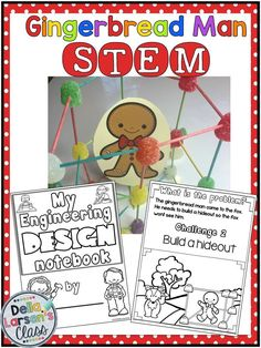 This gingerbread STEM challenge is perfect for young engineers working together … – Hobbies paining body for kids and adult Gingerbread Man Activities, Christmas Activities, Gingerbread Stories, Steam Activities, Science Activities, Science Resources, Kindergarten Stem, Stem Challenges, Stem Science