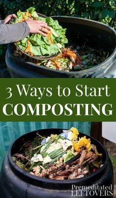 Check out these easy ways to Start Composting. A Compost is a key part of a healthy, balanced garden and a frugal source of organic fertilizer. Organic gardening tips to start the composting process and other easy garden ideas. A simple guide to choosing the best composting method for your lifestyle.