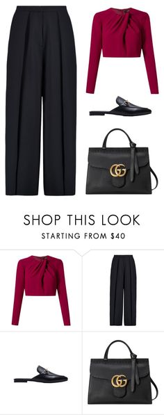 """""""Untitled #4034"""" by michelanna ❤ liked on Polyvore featuring Andrea Marques, Iris & Ink and Gucci"""