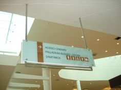 Wayfinding- Ceiling sign - Shopping Palladium - São Paulo (SP) - Brazil # Brazilian design