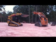 Cat 299C and Case 450CT Drag Race - Skid Steer CTL - YouTube
