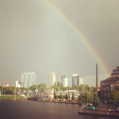 Rainbow in Rotterdam #architecture #nature #cityscapes