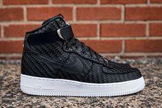 "Nike Air Force 1 High LV8 Woven ""Black/White"" - https://sorihe.com/mensshoes/2018/03/14/nike-air-force-1-high-lv8-woven-black-white/"