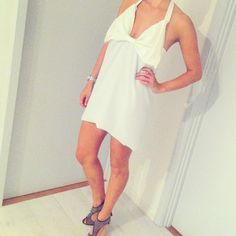 The dress without the white skirt.