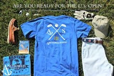 Sport our NEW Golf Tee $30  www.anchoredstyle.com #golf #preppy #madeinamerica #usopen #anchoredstyle
