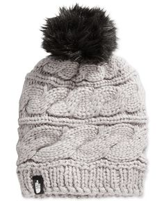 The North Face Faux-Fur-Trim Pom Pom Hat - Women - Macy's
