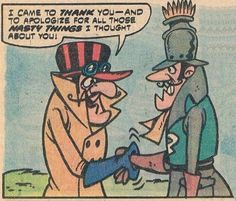 Dick Dastradly from the Wacky Races and Dred Baron from Laff-A-Lympics