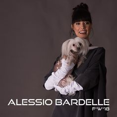 Alessio Bardelle Ready to Wear  Long-Sleeved shirt with a t-Shirt over it. Shirt in a grey wool gabardine f*w*7-8 chinese crested dog <3 https://www.instagram.com/alessio_bardelle/