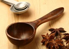 Wooden spoon coffee scoop measuring spoon 1 1/2 by KitchenCarvings, $17.00