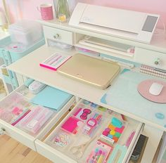 Craft Room Ideas Ikea Organisation Super Ideas craft is part of Ikea craft room - Study Room Decor, Cute Room Decor, Bedroom Decor, Ikea Craft Room, Craft Room Storage, Deco Cool, Ikea Organization, Craft Room Design, Kawaii Room