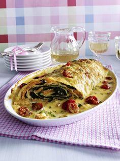 Unser beliebtes Rezept für Pastarolle mit Räucherlachs-Spinat-Füllung und mehr als 55.000 weitere kostenlose Rezepte auf LECKER.de.