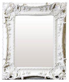 One Kings Lane - Beautiful Reflections - Louis Sweep Mirror, White